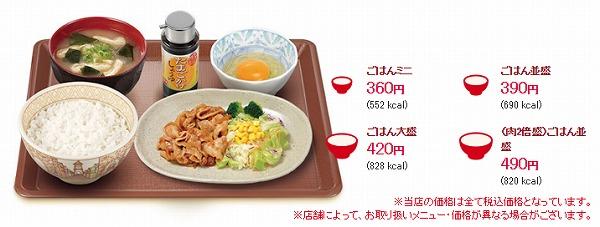 豚生姜焼き朝食