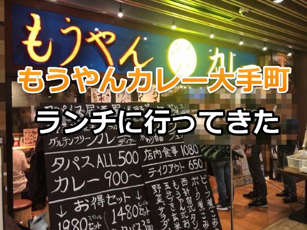 もうやんカレー大手町店でランチ【東京駅から近くてアクセス便利】
